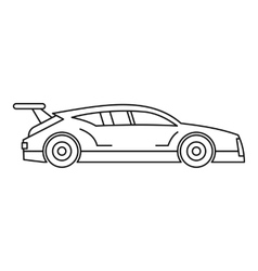 Racing car icon outline style vector image vector image