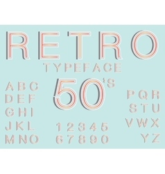 retro typeface font in vintage style perfect for vector image vector image