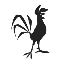 rooster cartoon silhouette icon vector image