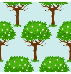 Seamless pattern with blossomed trees vector image vector image