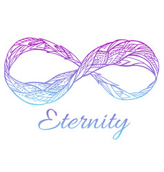 Sign of eternity with a boho pattern and col vector