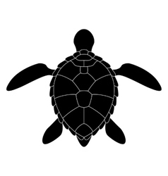 Stylized silhouette of a turtle vector image vector image