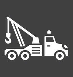 tow truck glyph icon transport and vehicle vector image vector image