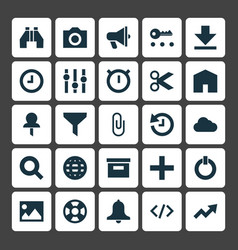 User icons set collection of pushpin button vector