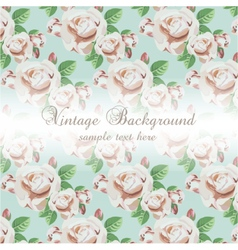 Vintage Watercolor Background with flowers vector image vector image