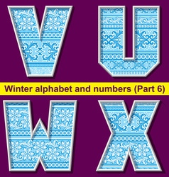 winter abc 06 vector image vector image