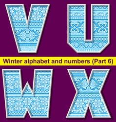 winter abc 06 vector image