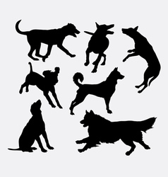 Dog pet animal silhouette 19 vector