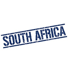 South africa blue square stamp vector