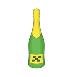 Bottle of champagne icon cartoon style vector
