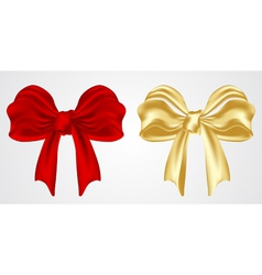 set of holiday bow vector image