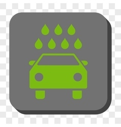 Car Shower Rounded Square Button vector image