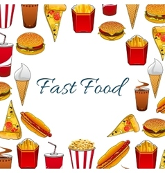 Fast food meal poster vector