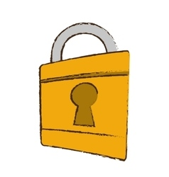 drawing padlock lock security money bank vector image