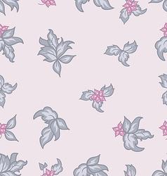Cute flower vintage seamless background vector image