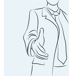 Businessman sketchy vector