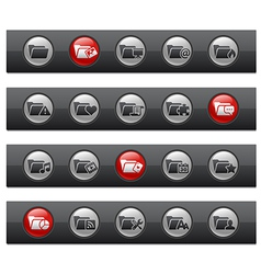 Folder 2 Buttons vector image