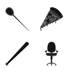 Hairpin pizza and other web icon in black style vector