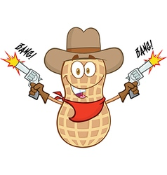 Cartoon peanut vector