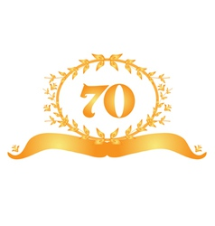 70th anniversary banner vector