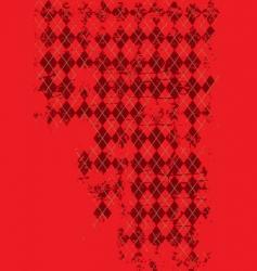 grunge argyle vector image