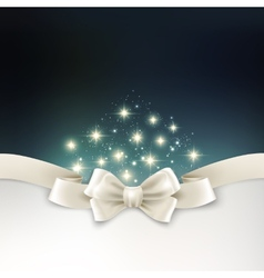 Holiday light christmas background with white silk vector