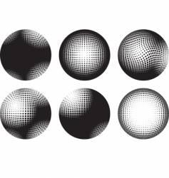 six spheres vector image