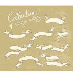 Set of doodle ribbons vector image