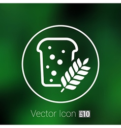 Bread ornate design background logo grain meal bun vector