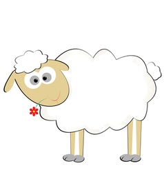 Cute sylized sheep vector