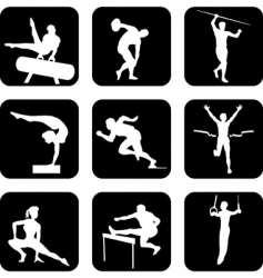 Athletic sport icons vector