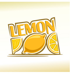 Abstract lemon vector