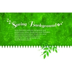 Background with garden white fence vector