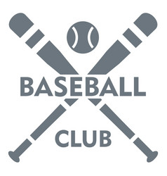 Baseball club logo simple style vector