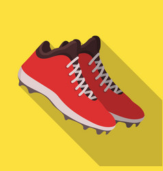 Baseball sneakers baseball single icon in flat vector