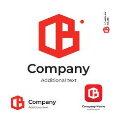 business building construction modern logo vector image