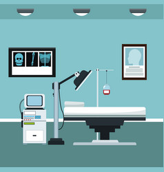 Clinic room consultation care vector