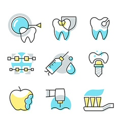 Dental care icons vector