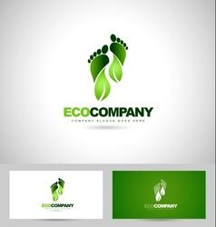 Eco green steps logo vector