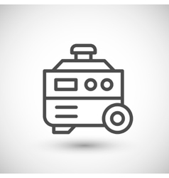 Electric generator line icon vector