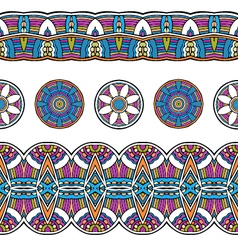Ethnic mexical peru tribal seamless border pattern vector