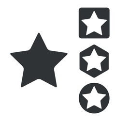 Favorite icon set monochrome vector image
