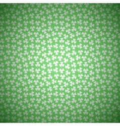Green Floral Background with White Seamless vector image