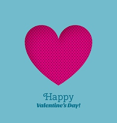 Greeting card happy valentines day with carved vector