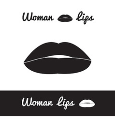 lips logo or icon in eps vector image vector image