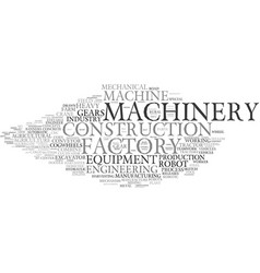 Machinery word cloud concept vector