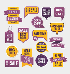 modern labels ribbons and tags for advertising vector image vector image
