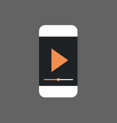 Mp3 player interface on cell smart phone icon vector