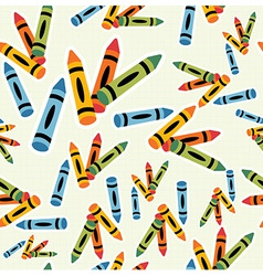 Multicolored crayons pattern background vector image