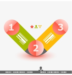 Numbered banner design template vector image